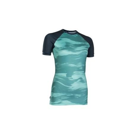 RASHGUARD WOMEN SS / SEA GREEN/DARK BLUE 2019